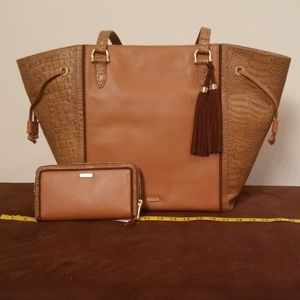 Brahmin Cheyenne Tan Sedona purse handbag & Wallet